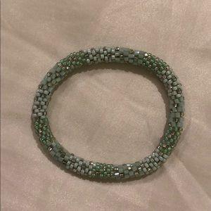 Mint Green Beaded Bracelet
